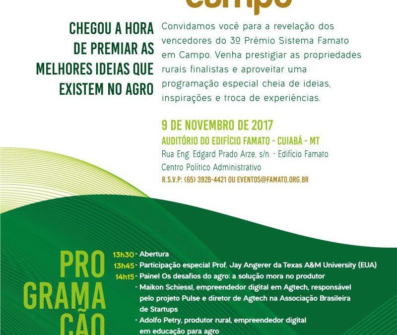 Agro-Sol é finalista do Prêmio Famato em Campo e convida para evento de premiação