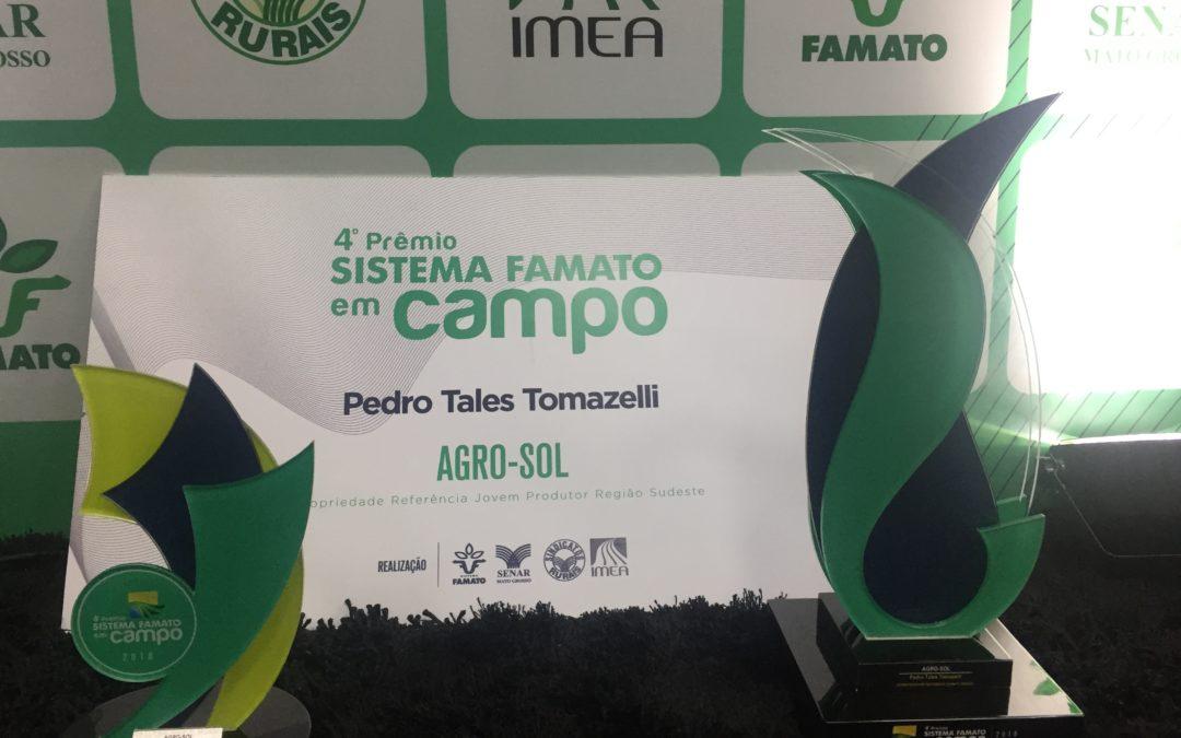 Agro-Sol vence quarta edição do Prêmio Sistema Famato em Campo