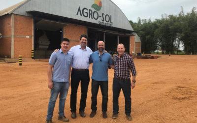 Agro-Sol recebe visita de palestrantes do Circuito Aprosoja