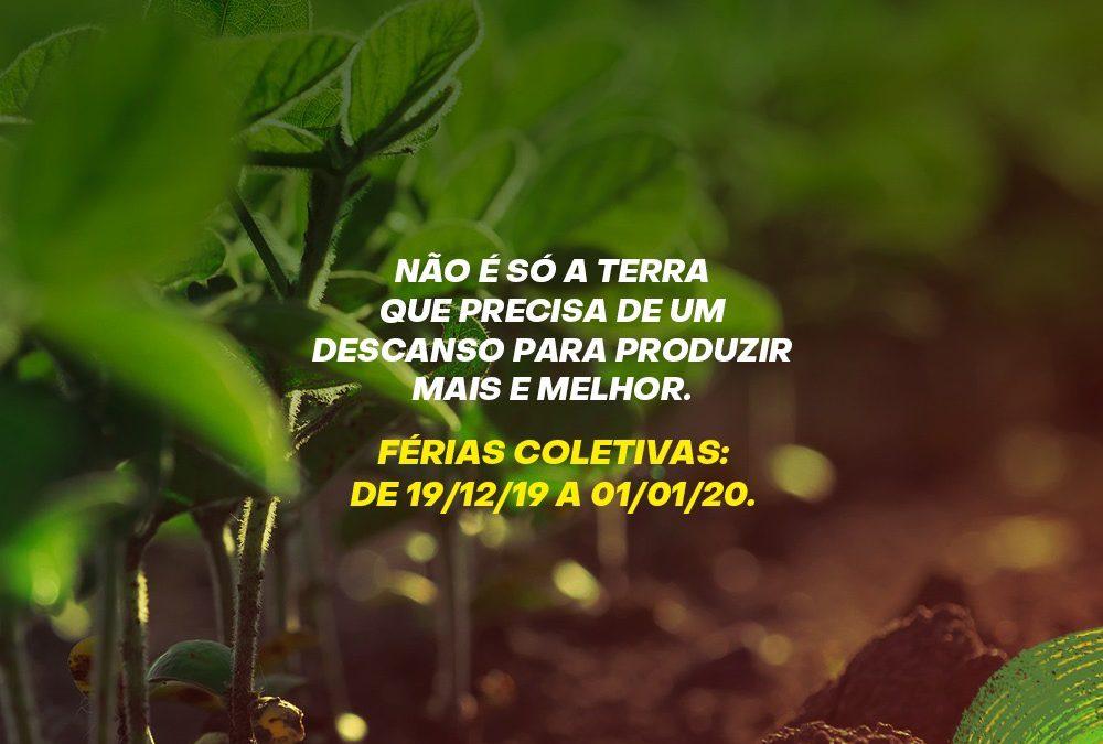 Agro-Sol entra em recesso a partir de 19 de dezembro